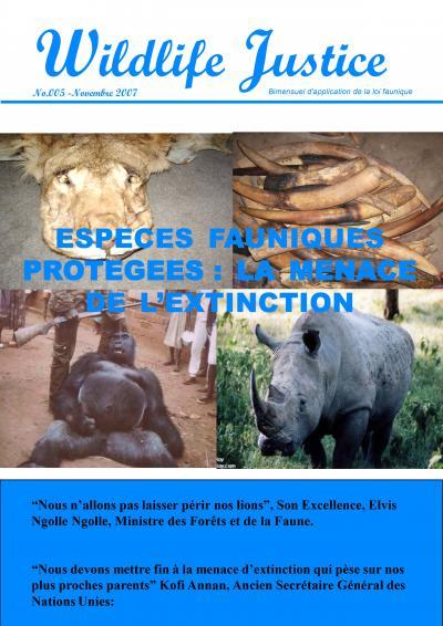 5 - Especes fauniques protegees : la menace de l'extinction